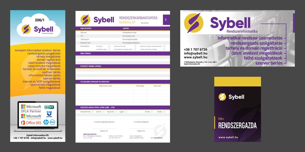 Sybell Informatika Kft. | Ajtó matrica, molinó, nyakbaakasztó kártya, munkalap