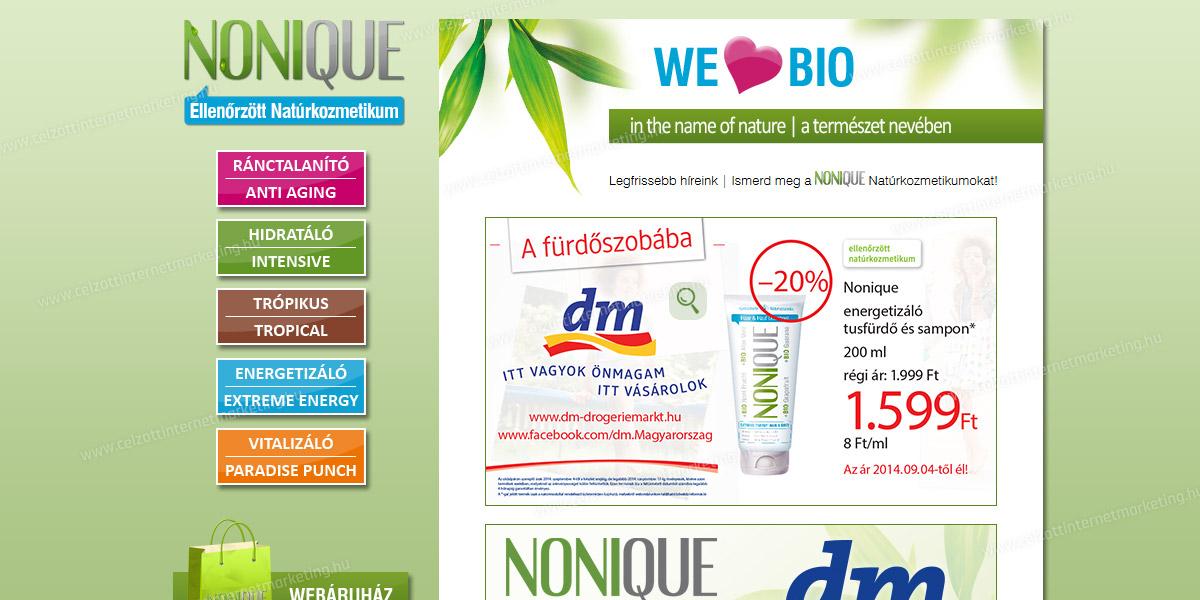 NONIQUE Natúrkozmetikum | www.nonique.hu