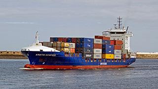 Konténerhajó, vízi szállítás